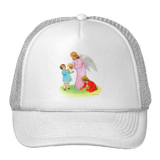 Vintage Kitsch Easter Angel with Two Children Trucker Hats