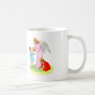 Vintage Kitsch Easter Angel with Two Children Coffee Mug