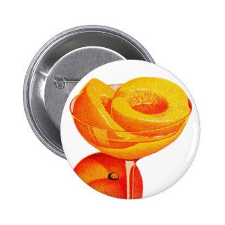 Vintage Kitsch Fruit Peach Peaches 50s ad art Pinback Button