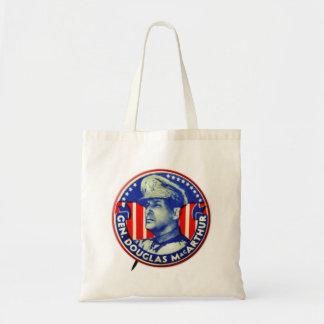 Vintage Kitsch General Douglas MacArthur Button Tote Bags