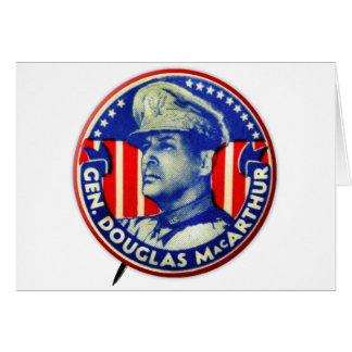 Vintage Kitsch General Douglas MacArthur Button Card