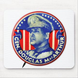 Vintage Kitsch General Douglas MacArthur Button Mousepads