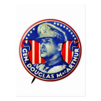 Vintage Kitsch General Douglas MacArthur Button Postcards