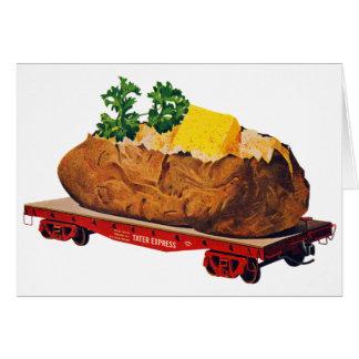 Vintage Kitsch Giant Baked Potato Tater Express Greeting Card