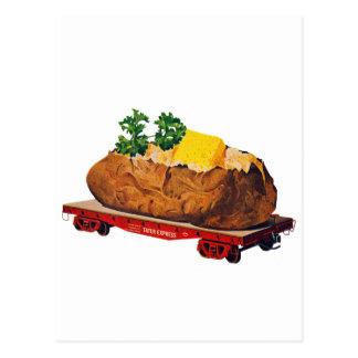 Vintage Kitsch Giant Baked Potato Tater Express Postcard