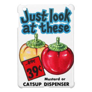 Vintage Kitsch Graphic Ketchup & Mustard Dispenser iPad Mini Cases