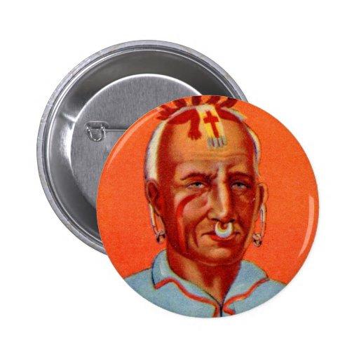 Vintage Kitsch Kishkalwa Indian Gum Trading Card Pinback Buttons