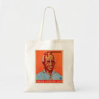 Vintage Kitsch Kishkalwa Indian Gum Trading Card Tote Bag