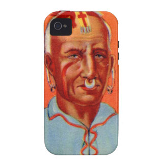 Vintage Kitsch Kishkalwa Indian Gum Trading Card Vibe iPhone 4 Cases