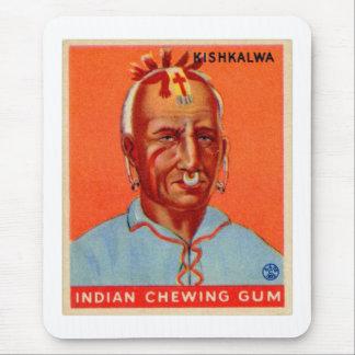 Vintage Kitsch Kishkalwa Indian Gum Trading Card Mousepad