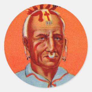 Vintage Kitsch Kishkalwa Indian Gum Trading Card Round Stickers