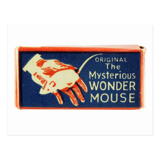 vintage Kitsch Magic Trick Magic Wonder Mouse Postcard