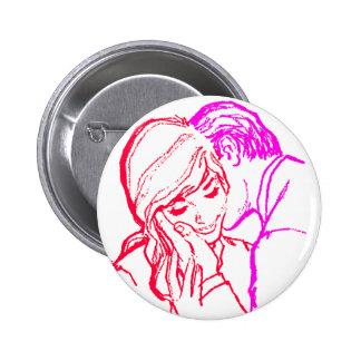 Vintage Kitsch Marriage Romance 60s Couple Button