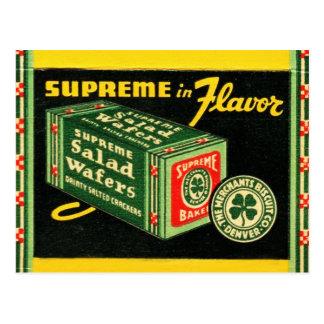 Vintage Kitsch Matchbook Art Supreme Wafers Postcard