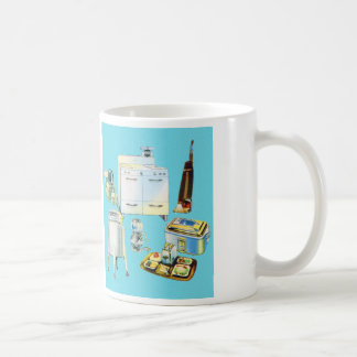 Vintage Kitsch Modern Household Appliances Basic White Mug