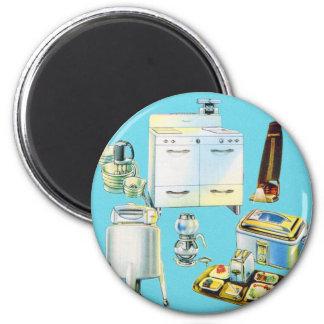 Vintage Kitsch Modern Household Appliances 6 Cm Round Magnet