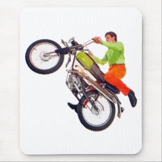 Vintage Kitsch Motor Bike Motorcycle Wheelie Mouse Pad