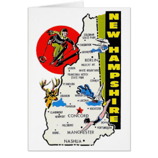 Vintage Kitsch New Hampshire State Travel Decal Cards