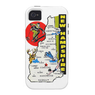 Vintage Kitsch New Hampshire State Travel Decal iPhone 4/4S Cover