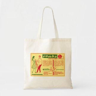 Vintage Kitsch Pop Rumba Dance Dutch 50s Card Canvas Bag