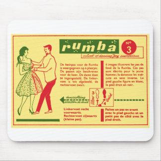 Vintage Kitsch Pop Rumba Dance Dutch 50s Card Mouse Pads