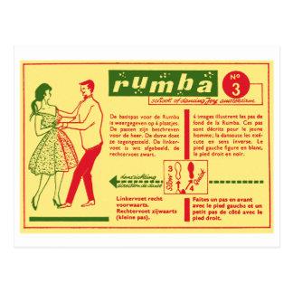 Vintage Kitsch Pop Rumba Dance Dutch 50s Card Postcard