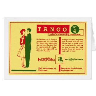Vintage Kitsch Pop Tango Dance Dutch 50s Card