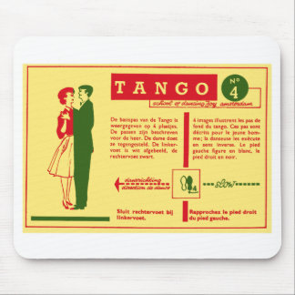 Vintage Kitsch Pop Tango Dance Dutch 50s Card Mouse Pads