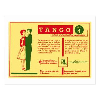 Vintage Kitsch Pop Tango Dance Dutch 50s Card Postcard