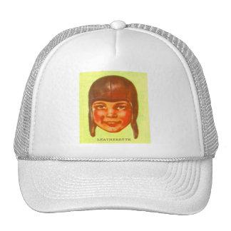 Vintage Kitsch Pulp Football Leatherette Helmet Cap