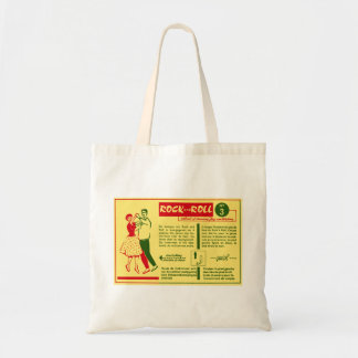Vintage Kitsch Rock and Roll Dance Dutch 50s Card Tote Bag