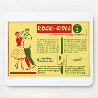 Vintage Kitsch Rock and Roll Dance Dutch 50s Card Mouse Pad