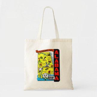 Vintage Kitsch State of Alabama Travel Decal Bag
