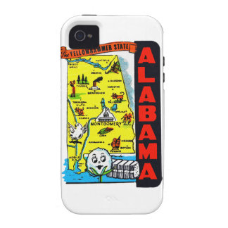 Vintage Kitsch State of Alabama Travel Decal Vibe iPhone 4 Covers