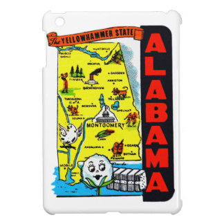 Vintage Kitsch State of Alabama Travel Decal iPad Mini Cases