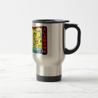 Vintage Kitsch State of Alabama Travel Decal Mugs