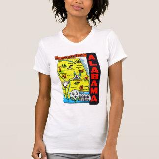 Vintage Kitsch State of Alabama Travel Decal T-shirts