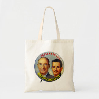 Vintage Kitsch Stevenson Sparkman Political Button Bag