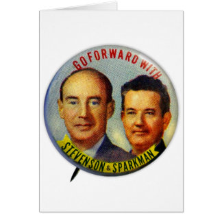 Vintage Kitsch Stevenson Sparkman Political Button Greeting Cards