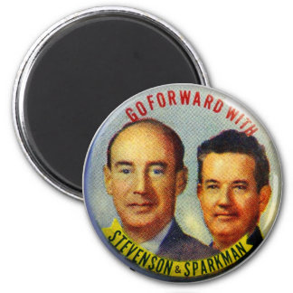 Vintage Kitsch Stevenson Sparkman Political Button Magnets