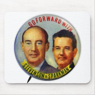 Vintage Kitsch Stevenson Sparkman Political Button Mouse Pads