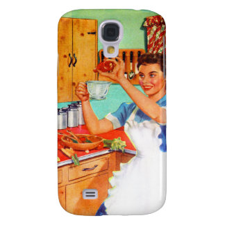Vintage Kitsch Suburban Housewife Cooking Kitchen Galaxy S4 Cover