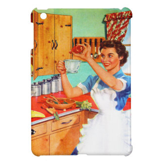 Vintage Kitsch Suburban Housewife Cooking Kitchen iPad Mini Covers