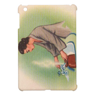 Vintage Kitsch Suburbs Housewife Tea Kettle iPad Mini Covers