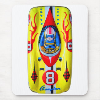 Vintage Kitsch Tin Toy Race Car Made in Japan Mouse Pad