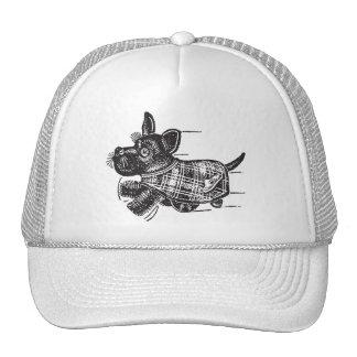 Vintage Kitsch Toy Shaking Dog Scottie Trucker Hats