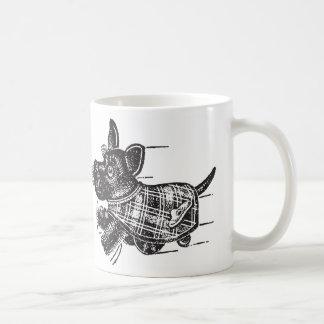 Vintage Kitsch Toy Shaking Dog Scottie Coffee Mug