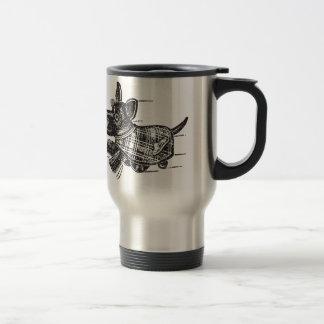 Vintage Kitsch Toy Shaking Dog Scottie Coffee Mugs