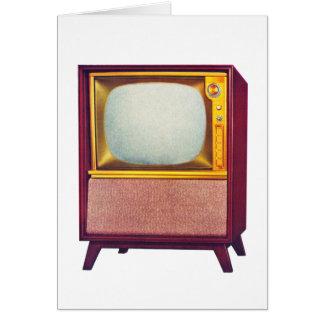 Vintage Kitsch TV Old Television Set Greeting Card