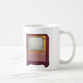 Vintage Kitsch TV Old Television Set Basic White Mug